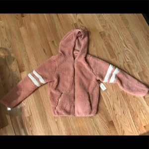 Forever 21 Rose Sherpa Hoodie-Small